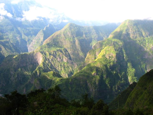 L'Îlet des Orangers depuis Sans Souci par la canalisation - Carte de La Réunion