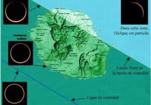 Observation eclipse annulaire de soleil La Reunion