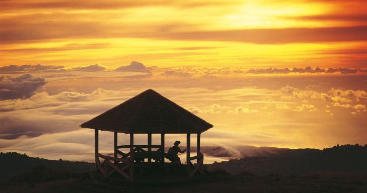 Lever et coucher du soleil à La Réunion - Carte de La Réunion on